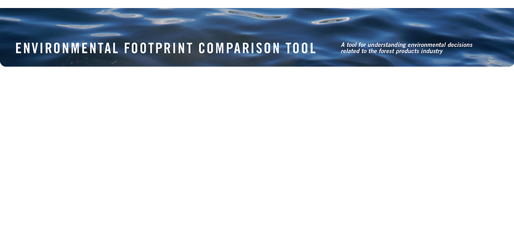 EFCT: Environmental Footprint Comparison Tool.  A tool for understanding environmental decisions related to the forest products industry.  Water.